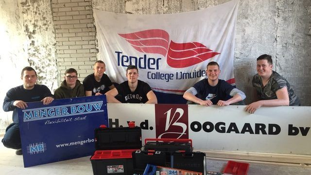 Leerlingen Tender College verbouwen huurwoning